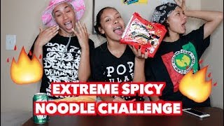 EXTREME SPICY NOODLE CHALLENGE (FAIL) !!!