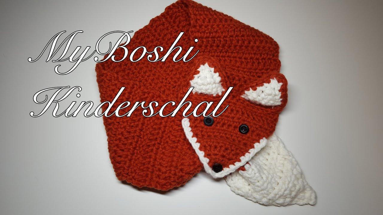 Myboshi Kinderschal Häkeln Anleitung Myboshi Kitsune Schal Häkeln