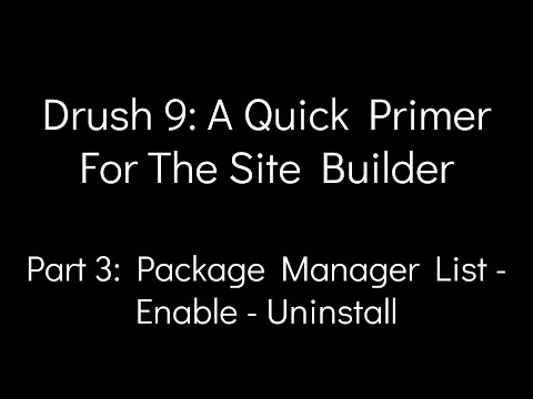Drush 9: A Quick Primer For The Site Builder - Part 3: Package Manager List - Enable - Uninstall thumbnail