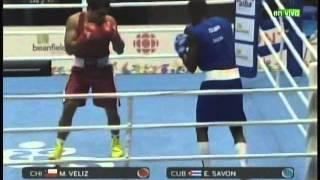 BOXEO PANAMERICANO Chile vs Cuba 91 kg TORONTO Julio 22 2015