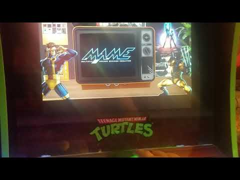TMNT Arcade1up mod with trackball from Retro Arcade Corner