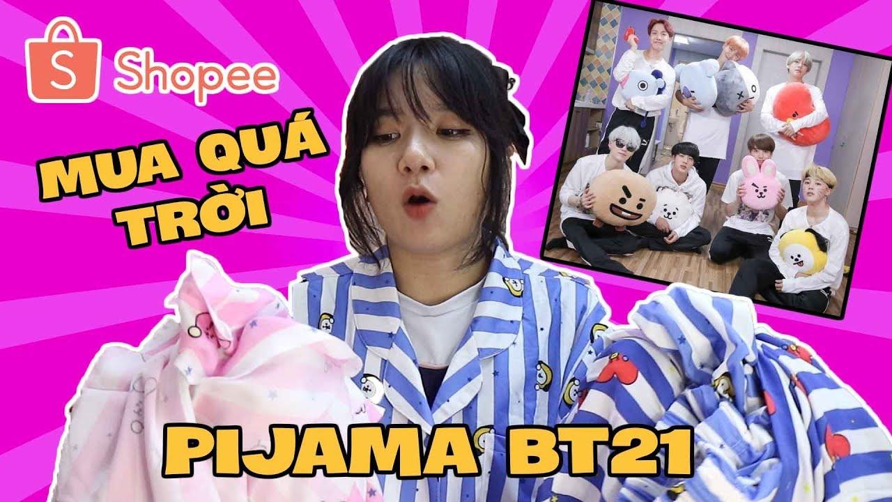 [MUA HÀNG TRÊN MẠNG] Mua Thử Đồ Ngủ BT21 Của BTS Trên Shopee || Cooky,TaTa, Koya, Chimmy