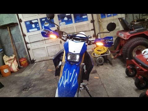 2014 WR250R gearjunky install of ZETA Hand Guard With Integrated turn Signal Running lights