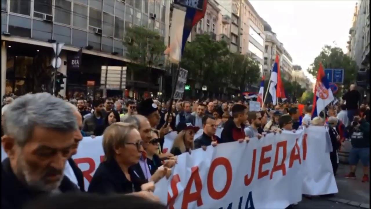 Белград. Протестное шествие