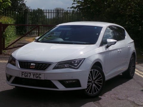 fg17ygc seat leon 1 4 tsi xcellence technology 5dr in white youtube. Black Bedroom Furniture Sets. Home Design Ideas