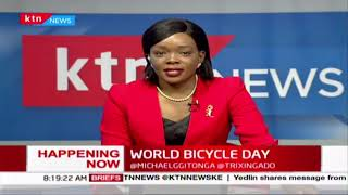 World Bicycle Day: KTN anchor Michael Gitonga cycles from Karen to CBD
