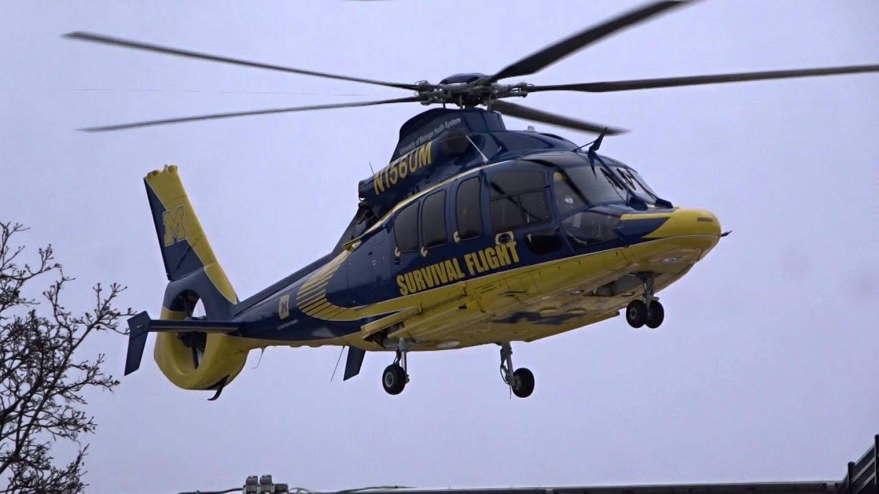 Download University of Michigan Health System Survival Flight Taking Off