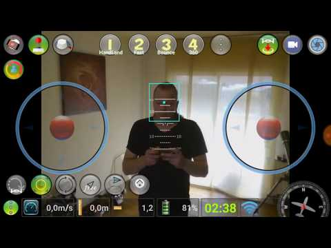 Dji TeLLo Real Face Tracking With aTeLLoPiloT App Firt inside house to test  the tracking