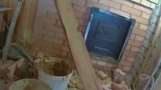 видео фундамент под металлическую печь в баню