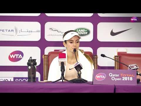 2018 Qatar Open press conference: CiCi Bellis on Pliskova 'I love the way she plays'