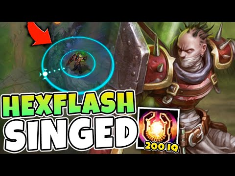 Here's why HEXFLASH is secretly 200 IQ on Singed (EASY PROXY) - League of Legends