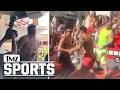 ROB GRONKOWSKI HOT CHICKS + CHAMPAGNE SHOWER... Vegas Topless Turn Up | TMZ Sports