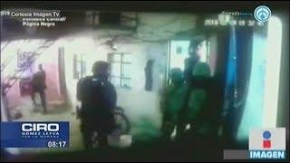 Elementos de la Policía militar y PF allanaron una vivienda en Puebla