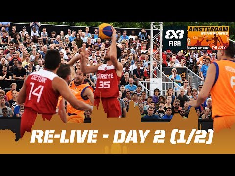 Re-Live - FIBA 3x3 Europe Cup 2017 - Day 2 (1/2) - Amsterdam, Netherlands
