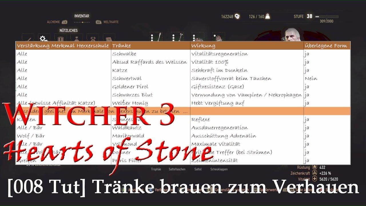 008 & TUTorial Tränke] Witcher 3 - HoS - Tränke brauen zum Verhauen ...