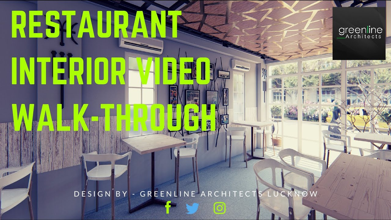 Restaurant Interior Design Concept - Greenline Architects in Lucknow