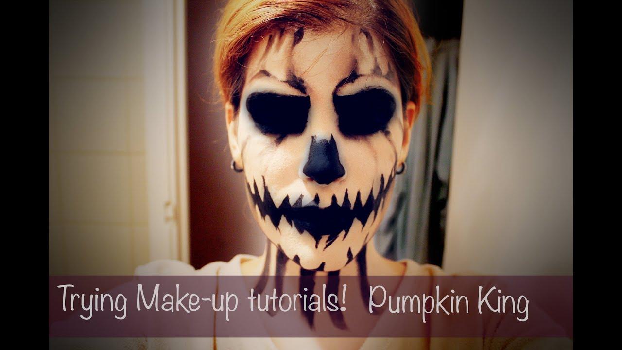 Trying Make-up tutorials - MadeYewLook - Pumpkin King [HALLOWEEN ...