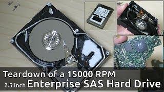 Teardown of a 15000 RPM Seagate Enterprise SAS Hard Drive