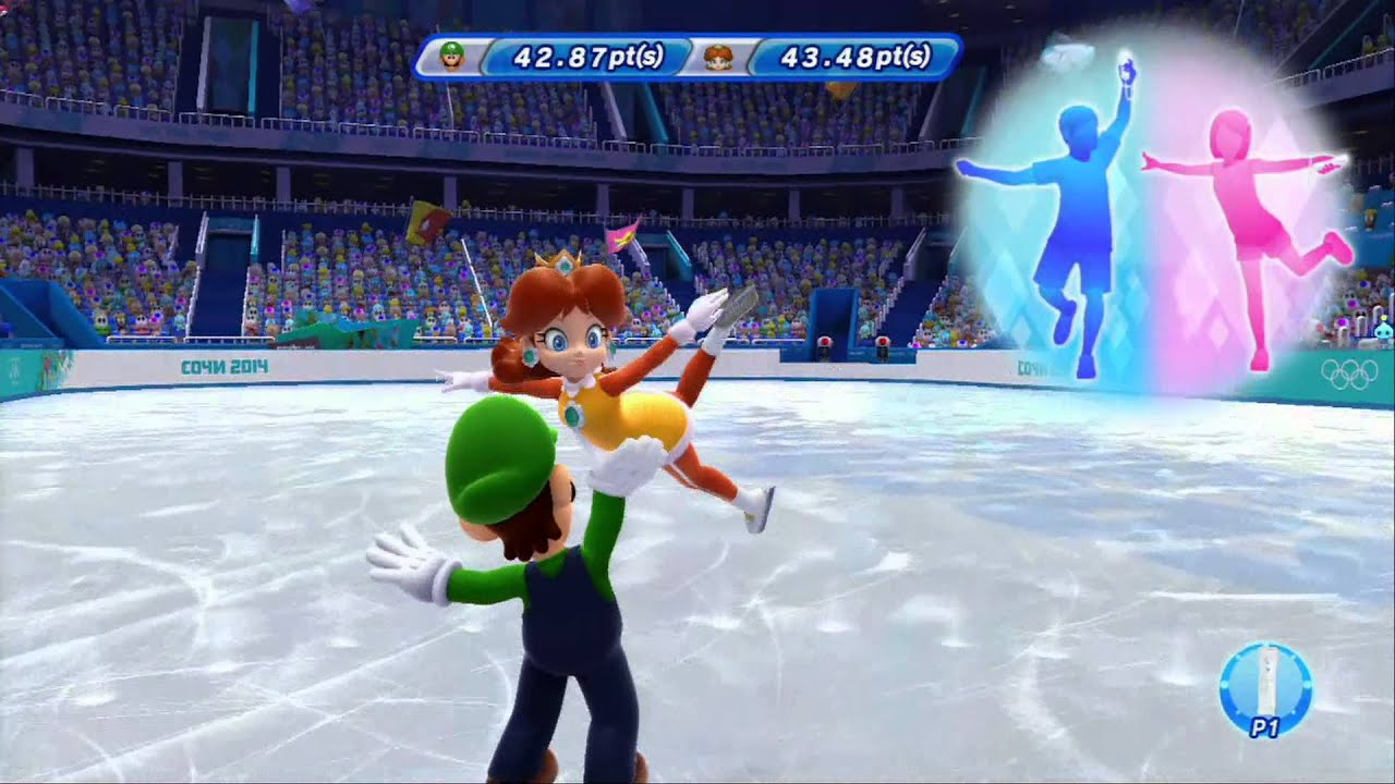 Mario Sonic At The Sochi  Olympic Winter Games Figure Skating Pairs  Hd Youtube