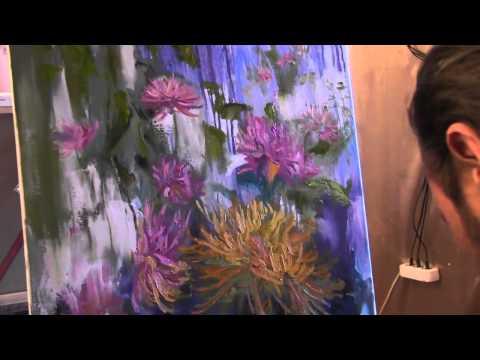 Научиться рисовать цветы, букет, живопись маслом для начинающих