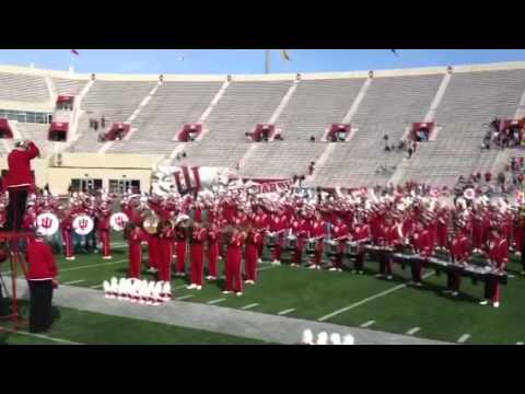 Marching Hundred play the IU Fight Song