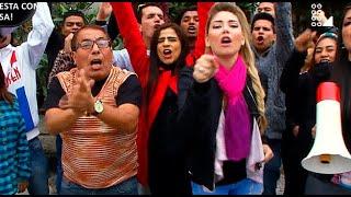 Los maestros del CHUTEP protestaron y reaccionó la Ministra