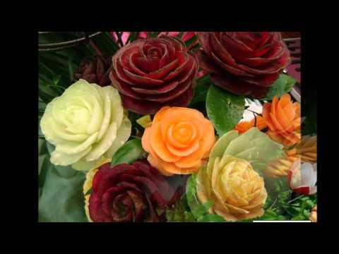 Цветы из овощей и фруктов своими руками фото для детского сада