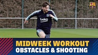 Midweek workout: obstacles, shooting and a scrimmage