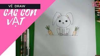cách vẽ  các con vật đáng yêu và dễ thương cho bé yêu BÉ YÊU TV