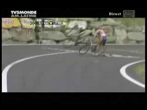 Tour de France Crash Denis Menchov