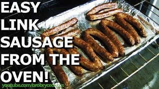 How To Cook Breakfast Sausage In The Oven!  - Brobrycecooks