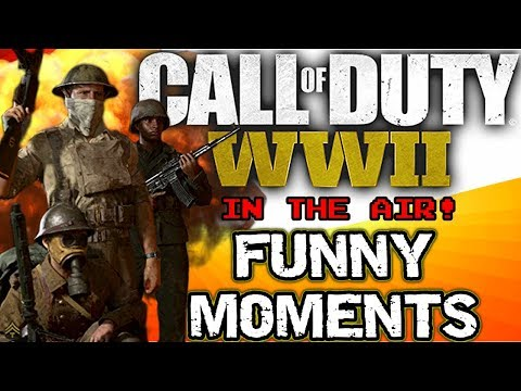 COD WW2 Funny Moments - Karaoke Party, Follow Trolling, War Game Mode, Multiplayer, PS4 Gameplay