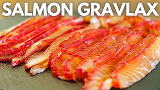 How to make beetroot cured Salmon Gravlax