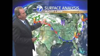 ABC 7's Jerry Taft uncontrollable laughter 8-06-09