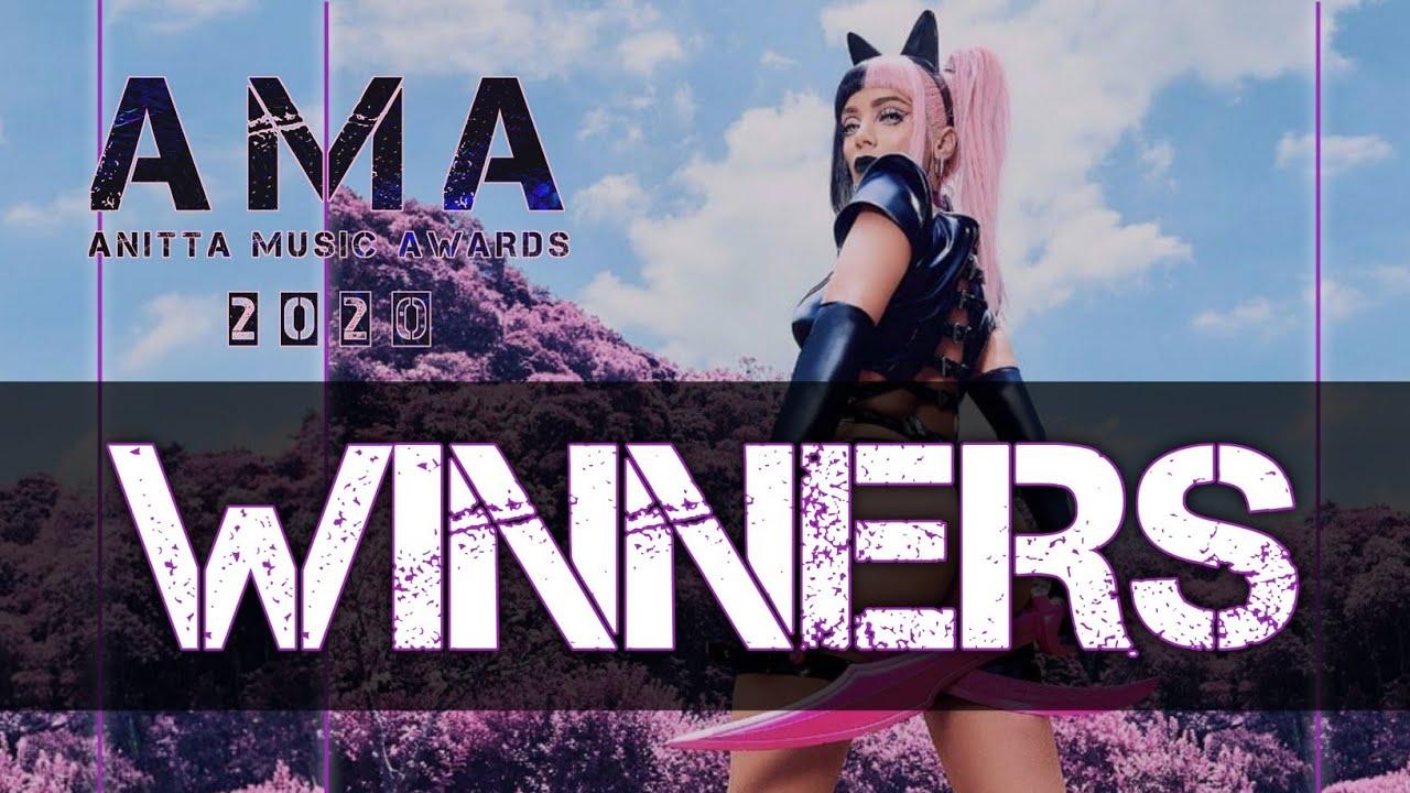 WINNERS - OS MELHORES DE 2020 | AMA 2020 (ANITTA MUSIC AWARDS) Premiação Anitter