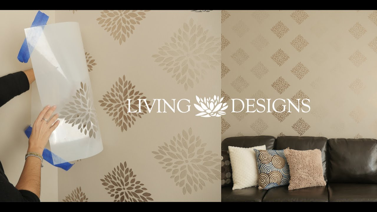 T cnica para pintar paredes con plantillas living designs for Papel decorativo para pared
