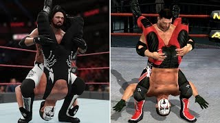 WWE 2K18 vs TNA Impact - 10 Finisher Comparisons! (Which Are Better?)