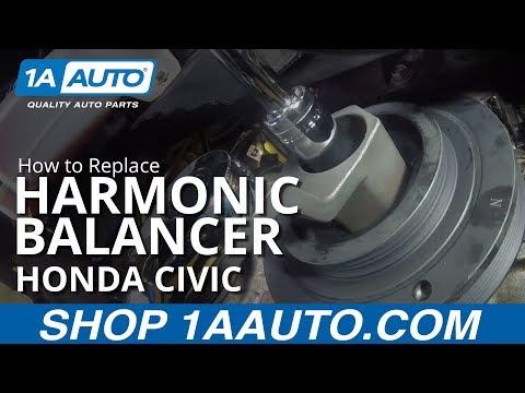 How to Replace Harmonic Balancer 01-05 Honda Civic