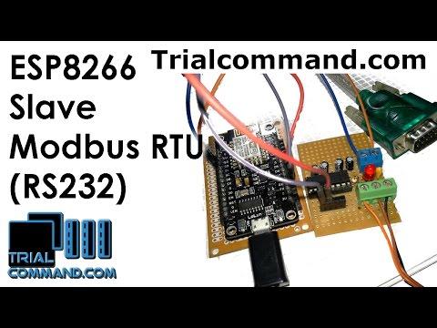 ESP8266 Slave Modbus RTU (RS232): 3 Steps