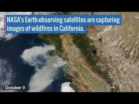California Wildfires Seen From Space