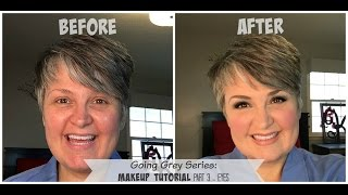 Going Grey Series: Part 3 Makeup Tutorial - eye shadow and brows