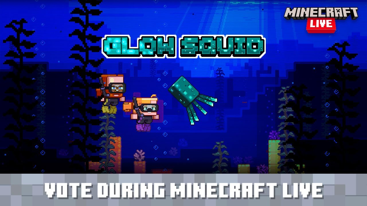 Minecraft Live: Vote for the Glow Squid!