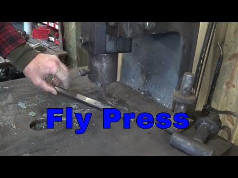 Introduction to the fly press - blacksmithing