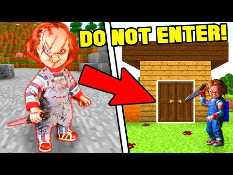FINDING CHUCKY'S SECRET BASE IN MINECRAFT! *DO NOT ATTEMPT*