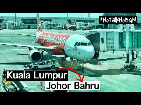 AIR ASIA AK6042 TRIP REPORT KUALA LUMPUR TO JOHOR BAHRU #NoTalkNoBGM