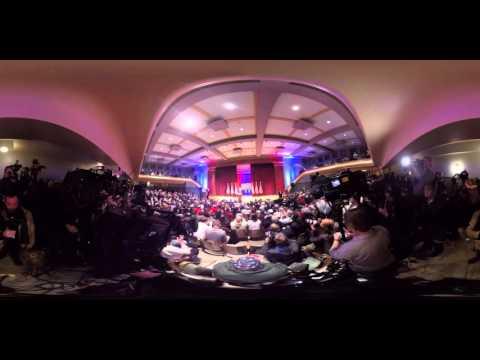 Watch a Donald Trump event in Iowa in 360º