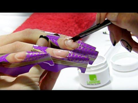 Наращивание ногтей акрилом пошаговый фото урок