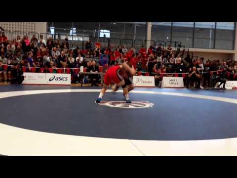 2015 Senior National Championships: 86 kg Kevin Barret vs. Geordie Watkins