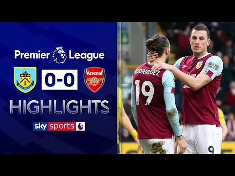 Aubameyang and Rodriguez miss late chances | Burnley 0-0 Arsenal | EPL Highlights
