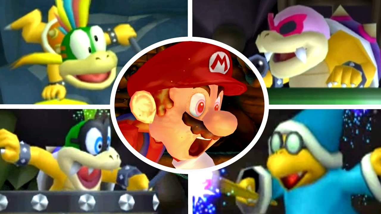 New Super Bowser Wii All 9 Worlds Full Game All Star Coins Youtube
